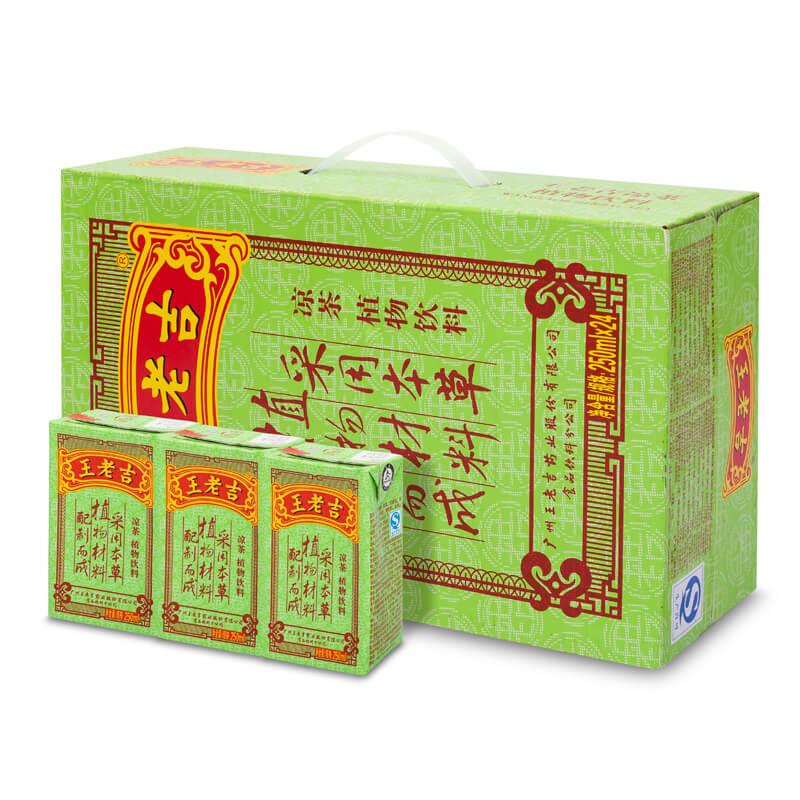 ~天貓超市~王老吉涼茶植物飲料 250ml^~24包 箱 植物 茶飲料