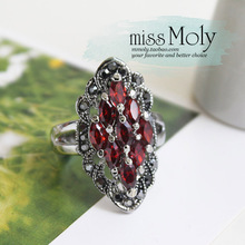 The spot fashion jewelry MMoly ring for women Fashion temperament olive crystal ring Victoria