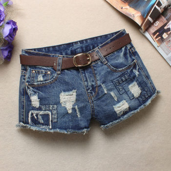 韩版牛仔短裤