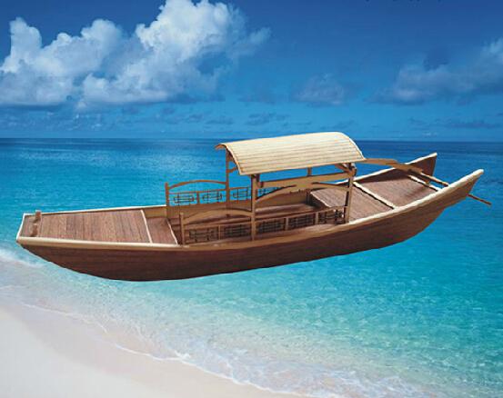 科教木质拼装船模苏杭内河小画舫模型激光雕刻古代船模竞赛器材