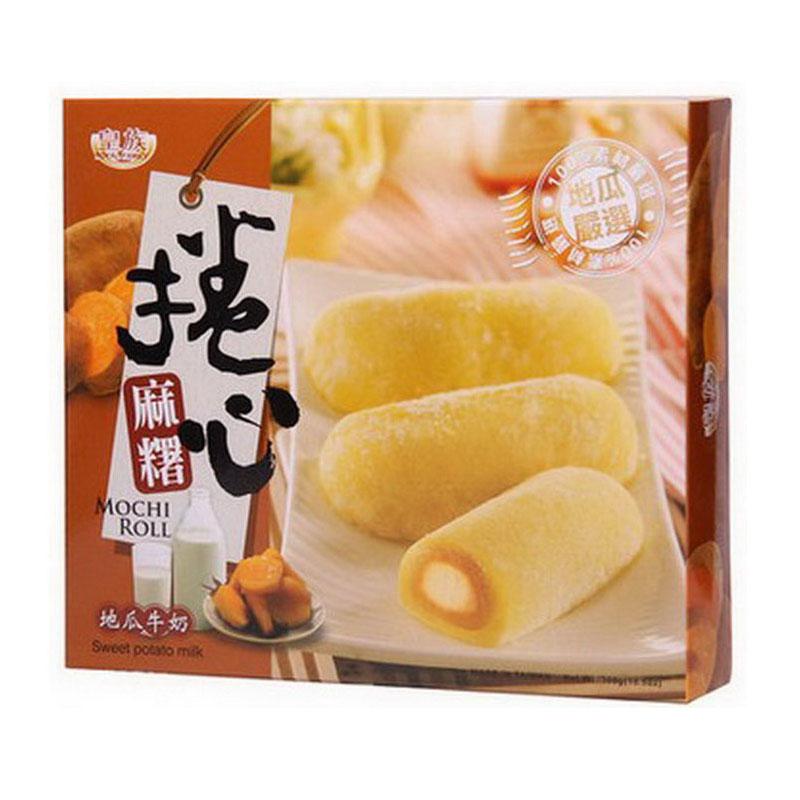 ~天貓超市~  皇族地瓜牛奶卷心麻薯300g糕點伴手禮年貨
