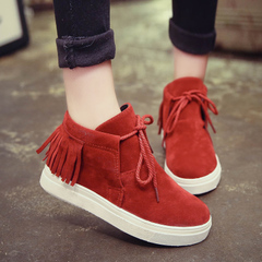 Hero Yang 2015 fall increased in the new shoes flats Casual Shoes Sneakers Shoes tassel student shoes