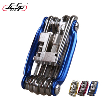 High quality 11 in 1 multi-function combination mountain bike Repair tool T25 disc brake wrench chain Tool