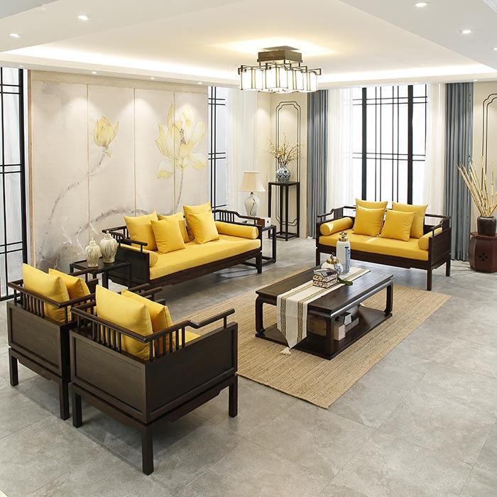 Новый китайский стиль диван современный китайский стиль простой гостиная алтарь смысл мебель новый классическая все деревянные ткань диван сочетание
