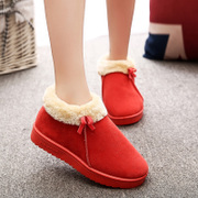 2015 new thick cotton slippers handbags with thick warm at home confined indoor winter shoe slippers slip cotton slippers
