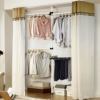 Korean simple and easy Combination wardrobe indoor to ground Stands Cloth wardrobe Steel frame fold Combination frame Storage Lockers