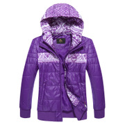 Kang step new warm winter coat thick windproof jacket women middle-aged and older casual cotton hooded tracksuit