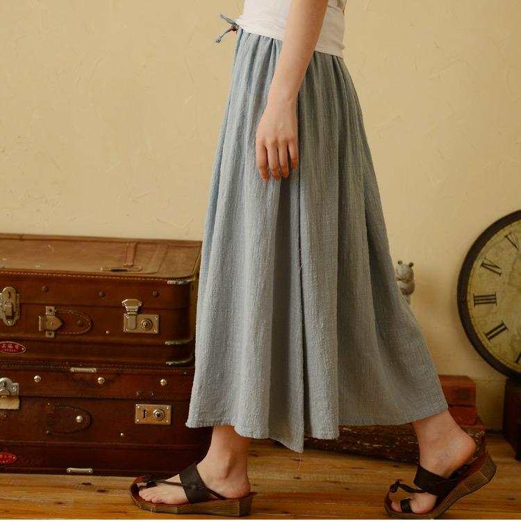 Мори девушка дамы племенных летом 2015 новый японский Мори девушка из чистого хлопка, льна цвета и элегантный простой бюст платье