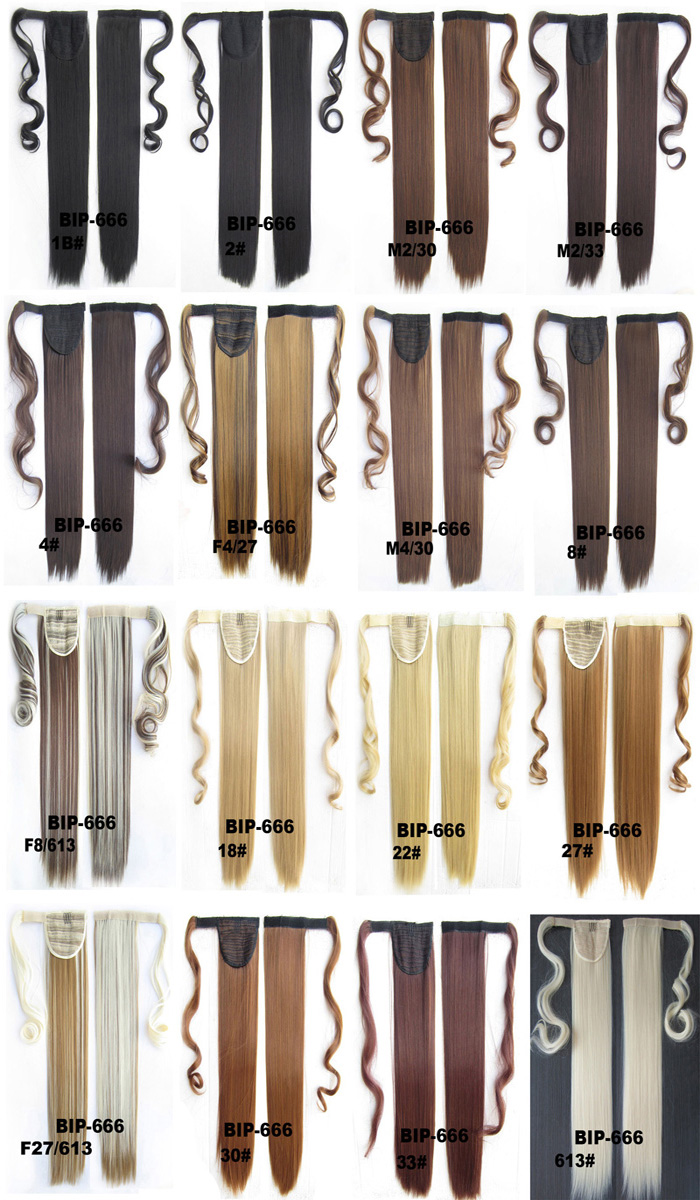 Магия естественный прямой хвост хвост без температуры шелка может быть использован для парик цвета Факультативного