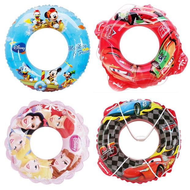 迪士尼米奇公主男女童救生圈遊泳圈 加厚兒童遊泳圈遊泳裝備
