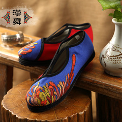 Chinese dance specials clearance end of lacing shoes old Beijing National wind layer with breathable embroidered flat shoes Daisy charm