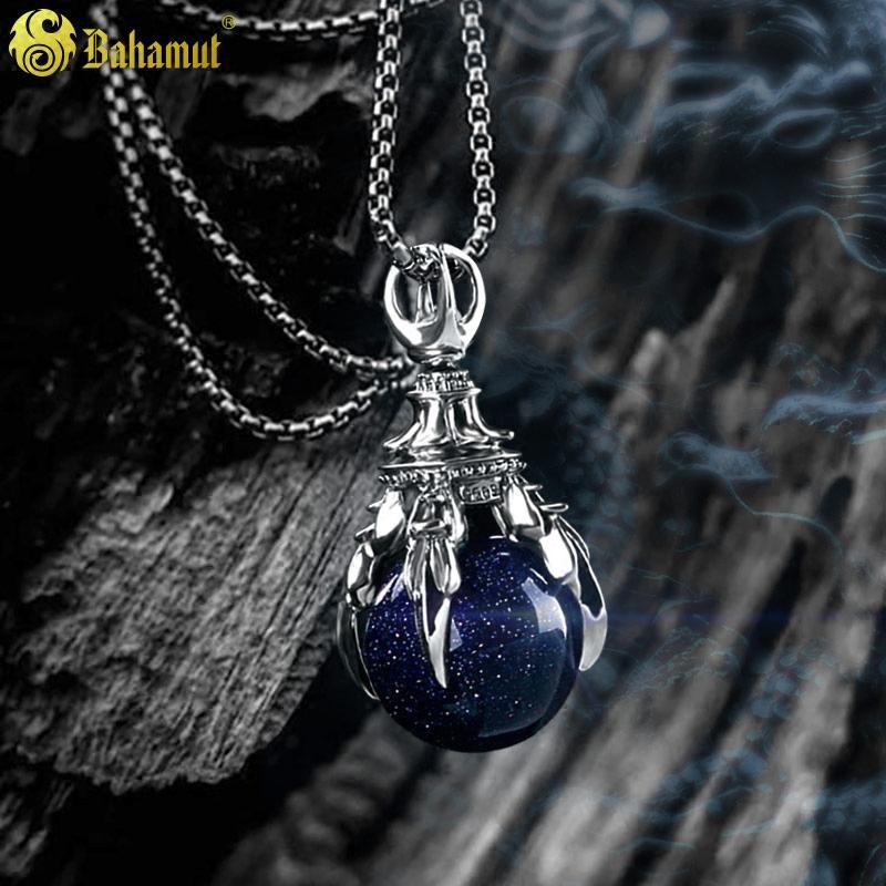 镇魂同款龙珠宝石银项链男士潮人朋克银饰挂吊坠男个性装饰品霸气