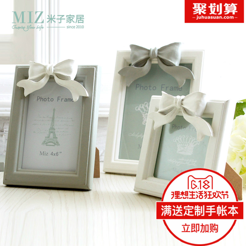 蝴蝶結相框 結婚 韓式 相片架畫框擺台 婚紗照 相框裝飾