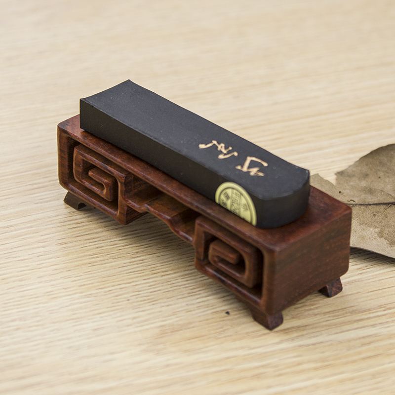 Черный Адзуса дерево чернила кровать богатые древний лад чернила тайвань культура дом использование инструмент античный черный Адзуса дерево целую материал карандаш положить двойной функция