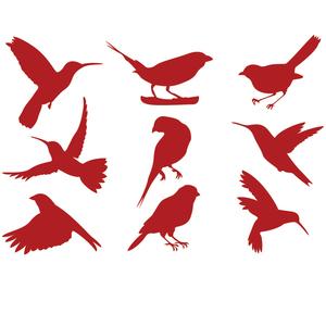 客厅沙发背景卡通动物墙贴纸 墙贴玻璃贴纸创意小鸟装修贴画