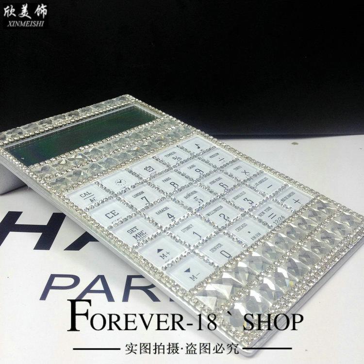 Чешский горный хрусталь ручной мозаики Многофункциональный калькулятор тонкий календарь чешский горный хрусталь калькулятор подарок выбора