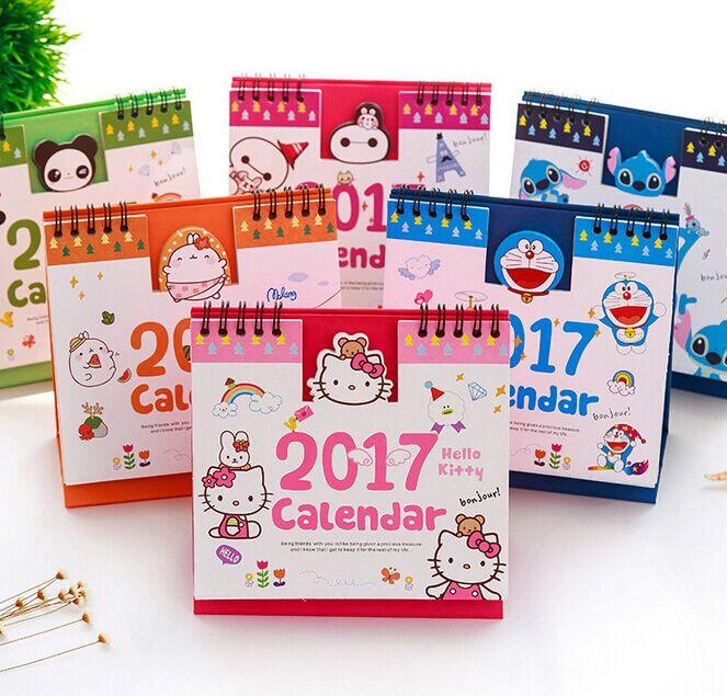 Милый мультики календарь рабочий стол 2017 год сельское хозяйство календарь считать привлечь день путешествие небольшой календарь удар моделирование рабочий стол календарь запомнить вещь