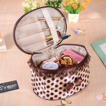 Large capacity cylinder han edition fashion jewelry to receive the package some waterproof makeup bag multi-function portable package
