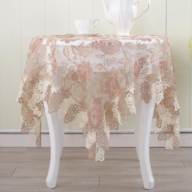 歌蘭朵歐式桌布布藝蕾絲餐桌布茶幾布蓋巾圓桌布台布電視櫃巾桌旗