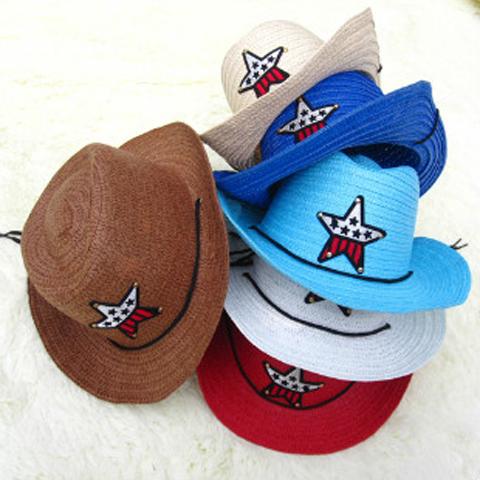 兒童草帽男童韓國遮陽表演沙灘帽子女寶寶春夏天韓版潮西部牛仔帽