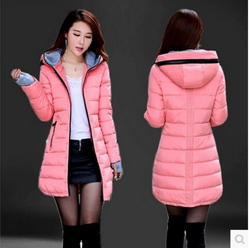 Подлинный 2015 новый корейской версии тонкий женщин долго пуховая куртка плюс размер мягкой зимы пальто продажи