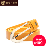 Honggu 2015 Shoppe red Valley fashion solid color genuine leather women's belts 2669