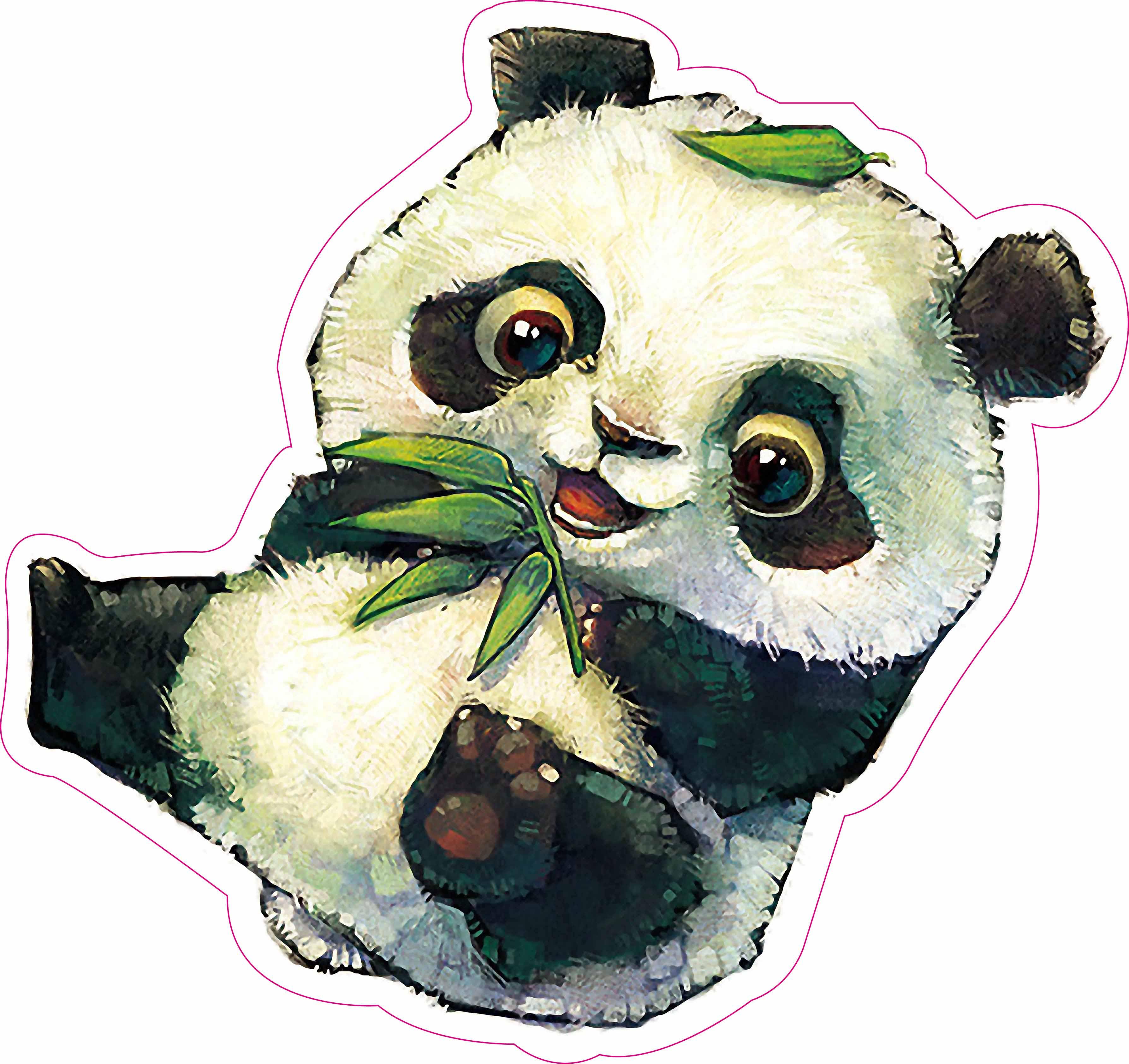 防晒防水PVC 可爱熊猫 大号行李箱贴冰箱吉他墙贴笔记本贴纸8099