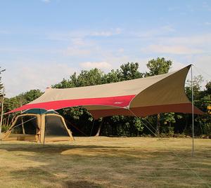 户外钓鱼超大天幕帐篷 户外天幕布 遮阳棚防晒防雨篷包邮逸途