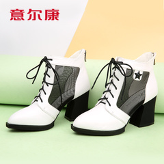 Kang shoes authentic new women's tennis spring 2015 yarn crude with high net boot women boots leather boots