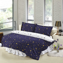 Saint-Bed Pavilion custom cotton thickened hair bed skirt bed Li-style bedspread bed four-piece set