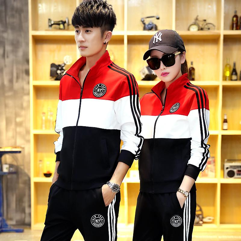 2017 зимний осенний новинка любители случайный спортивный набор мужчина ученый движение одежда корейский женщина код свитер мужчина весенний и осенний сбор.