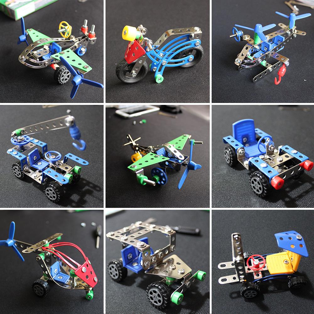 8 только почтой DIY металл сплав собранный головоломка разборка игрушка мальчик трехмерный продукт железо винт самолет автомобилей тип