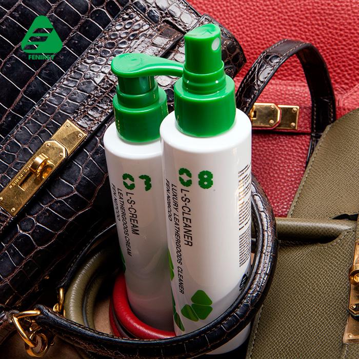 Роскошь изделия из кожи пакет моющее средство обеззараживание обслуживание установите кожа инструмент жидкость для ухода за кожа очень сумка пакет обслуживание агент очистки