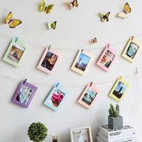 Diy бумага фоторамка фото стена декоративный подвеска пеньковая веревка клип никаких следов гвоздь творческий спальня стена стиль 7 фаза лист стена