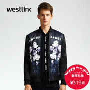 Westlink/2015 winter new tide letter printed in Europe and America West baseball clothing men's jackets