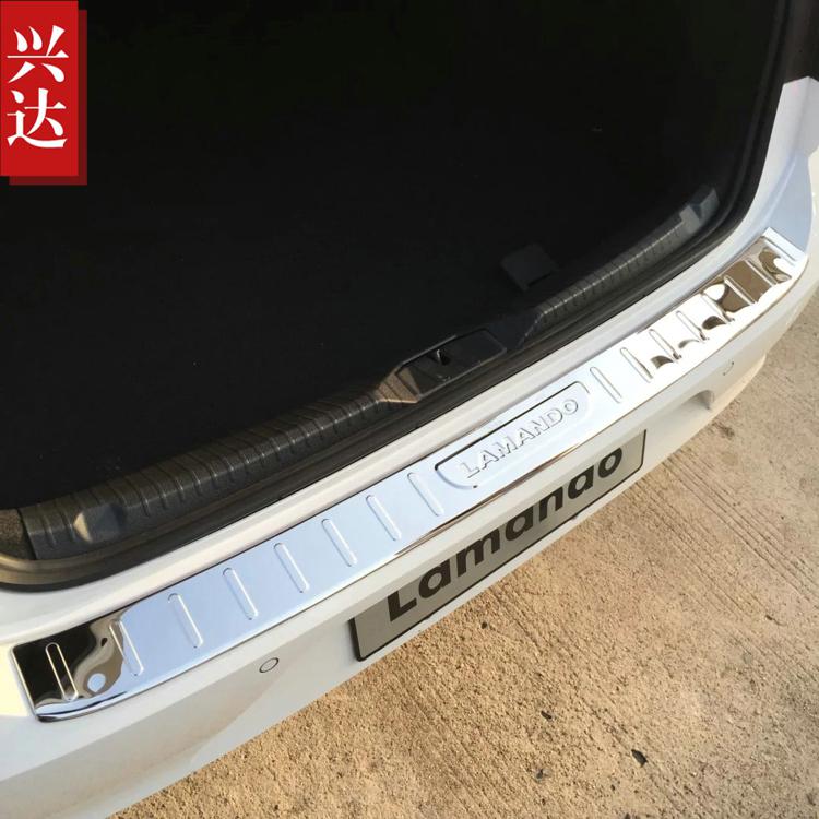 2015款上海大众凌渡专用不锈钢后保险杠踏板 Lamando外置后护板