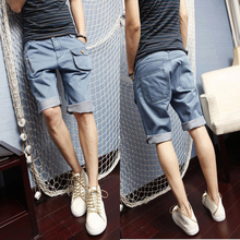 HIPHOP/BBOY hip hop street summer trousers The city boy washed denim shorts Five minutes of pants pocket cowboy