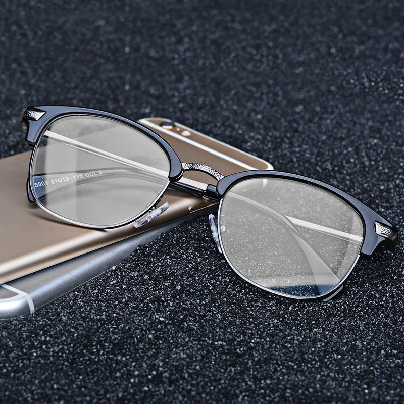 圓臉方臉眼鏡框架男女文藝複古眼睛 潮大平光鏡近視配有度數