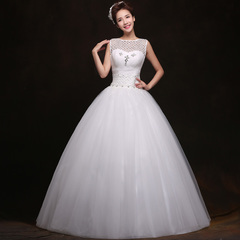 Wedding gowns 2015 spring new Korean version of simple Pack shoulder to shoulder the word skinny bride designed gowns
