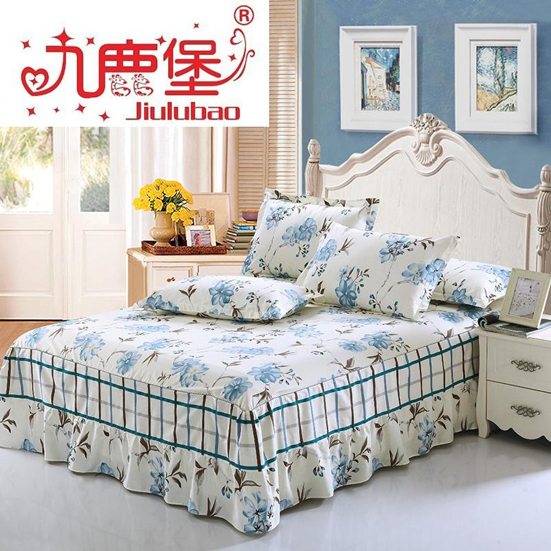 九鹿堡床上用品100^%純棉床罩 全棉床笠 床單 床裙 1.8床雙人單人