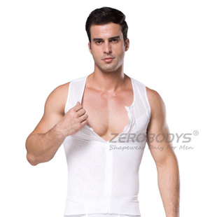 Men s shapewear corset vest body sculpting plastic corset vest Breast flat chest tight corset vest shaping