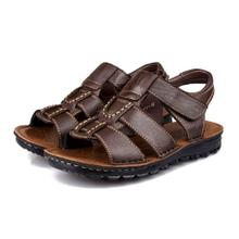 Special clearance in middle-aged men sandals leather sandals online soft bottom antiskid dad sandals in summer