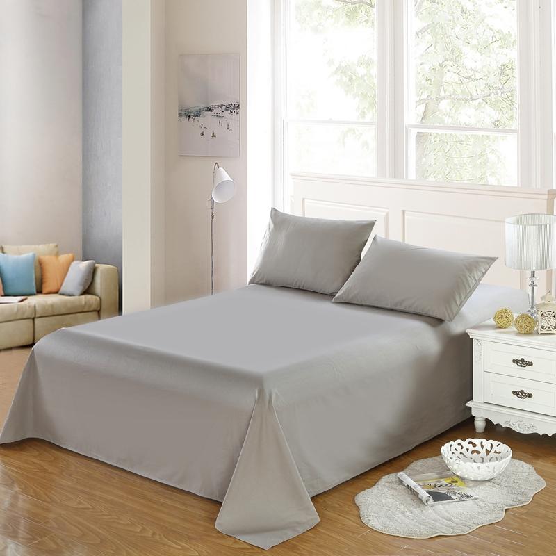 馨園純棉床單全棉雙人被單純色床單單件1.2學生床單白色 包郵
