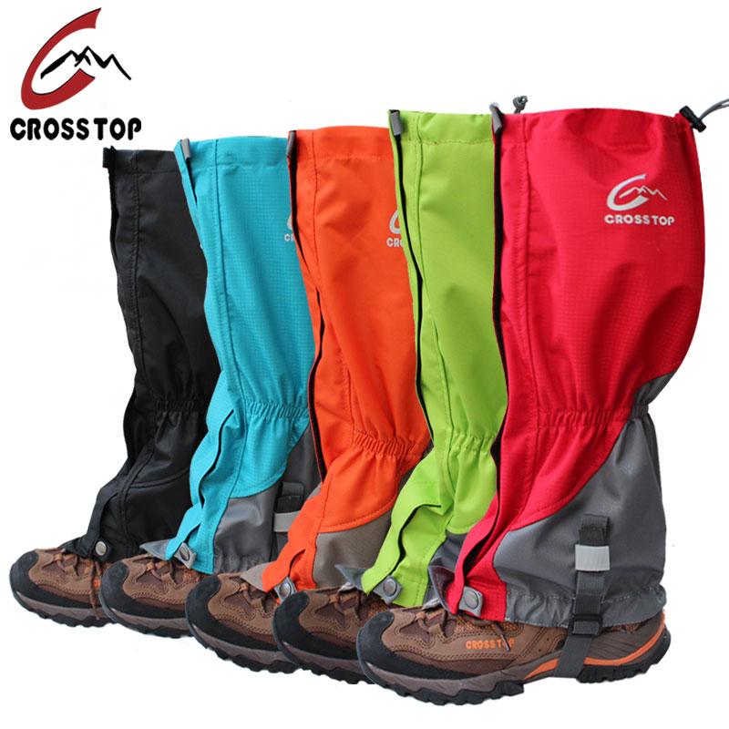 Crosstop戶外登山徒步雪套男加長防水防沙蟲腳套女沙漠護腿套耐磨