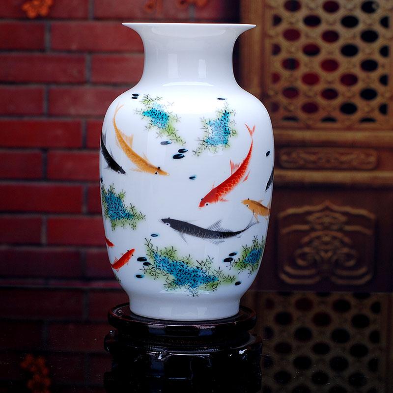 085景德鎮瓷器客廳陶瓷花瓶 白色擺件家居擺設裝飾工藝品