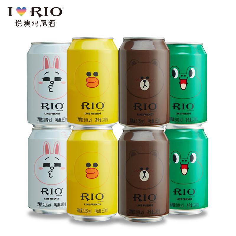 ~天貓超市~銳澳RIO丨 LINE FRIENDS 罐330ml^~8四種口味