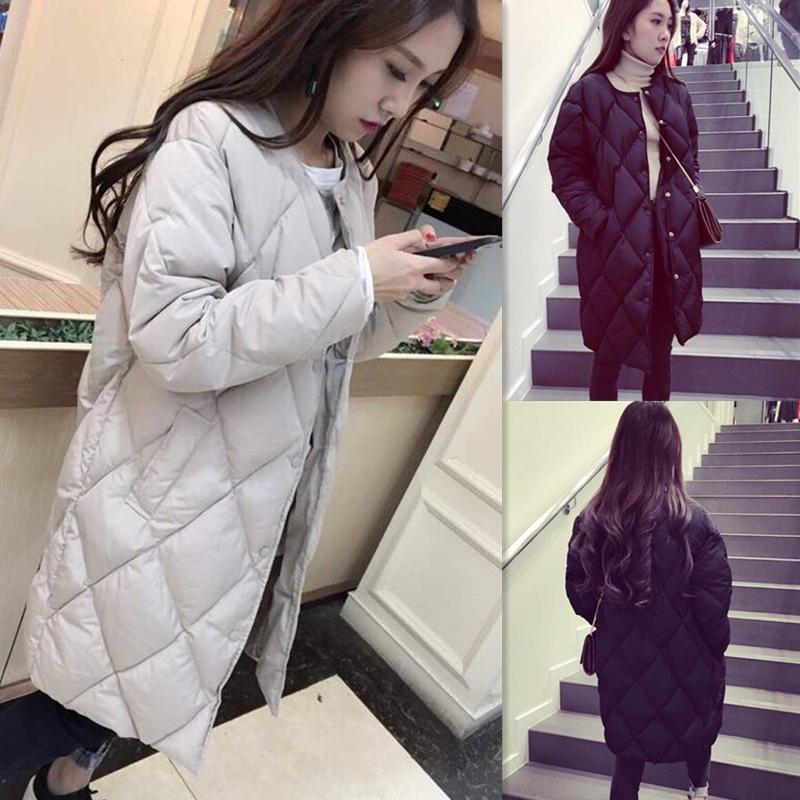 Осень и зима оборудование Корейский похудения пальто женщин размер тяжелого хлопка с длинным рукавом стеганые куртки пальто долго диких студентов в прилив