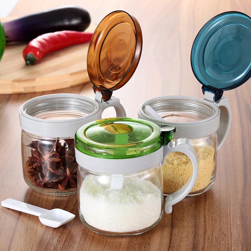 克芮思托廚房調料盒套裝加厚調料罐 調味盒油壺玻璃調味罐