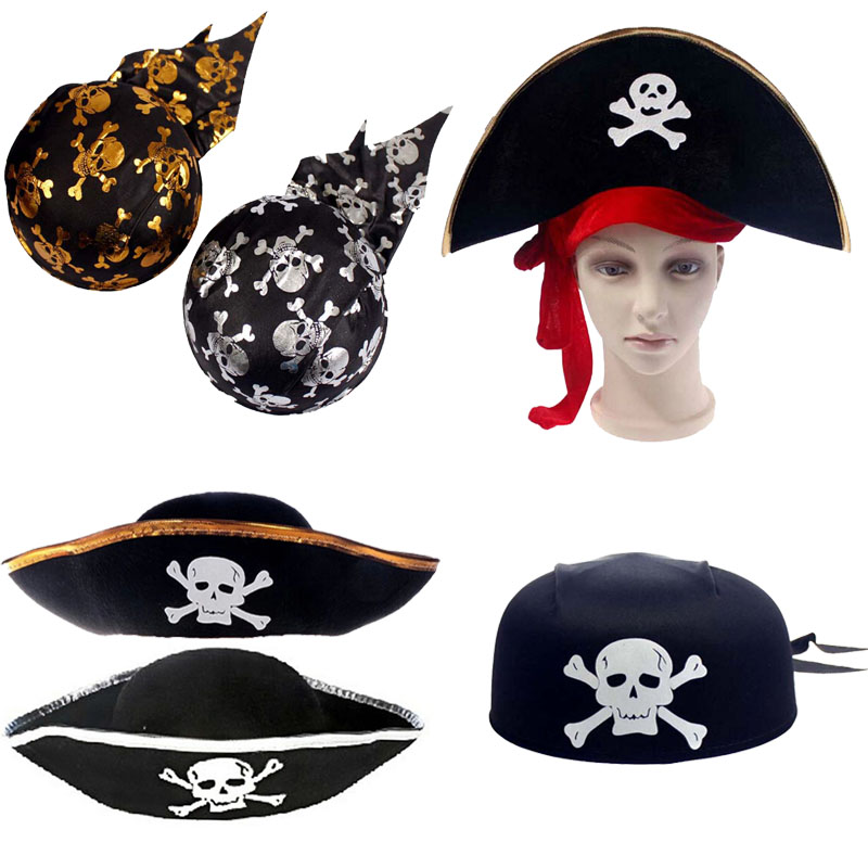 Love novelty Halloween props party pirates costume hats captain hats pumpkin pirate hats