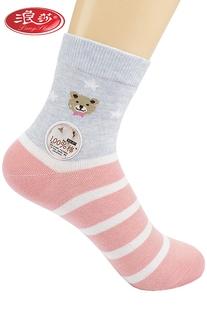6双装浪莎秋冬季厚款100%女袜子